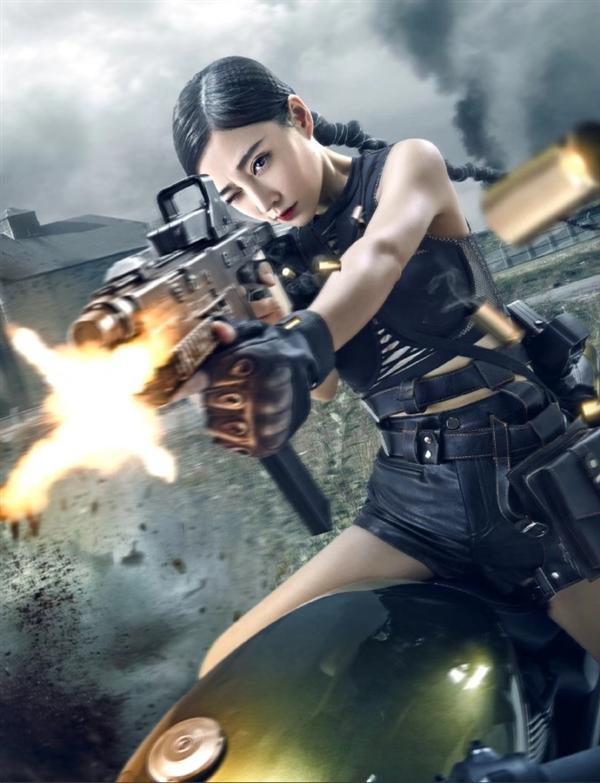 现在,官方公布了冯提莫cos游戏角色的照片,既有手持冲锋枪骑在摩托车