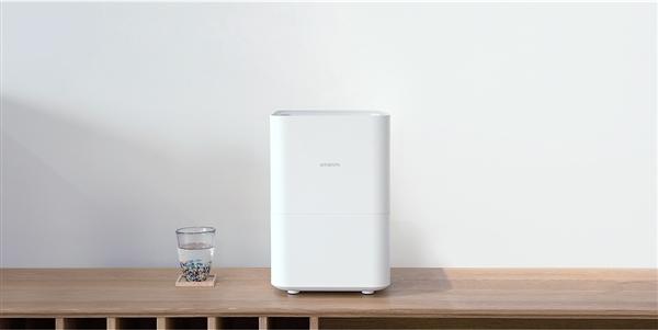 无白粉+便捷上注水:智米纯净型加湿器发布