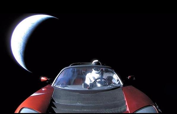 科学家预测:太空的特斯拉跑车到不了火星