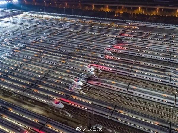 震撼还是震撼!请看中国高铁舰队