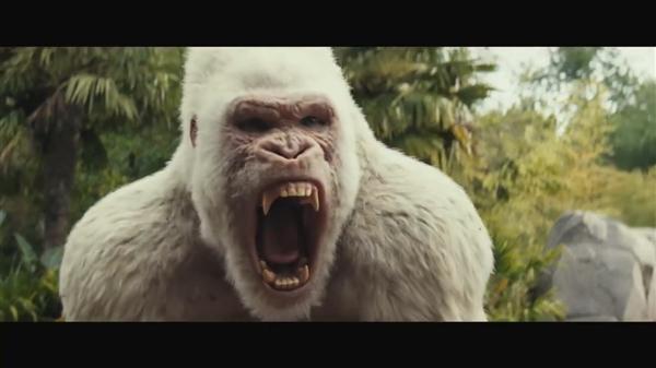 巨石强森怪兽片《狂暴》中文预告 巨兽肆虐天崩地裂