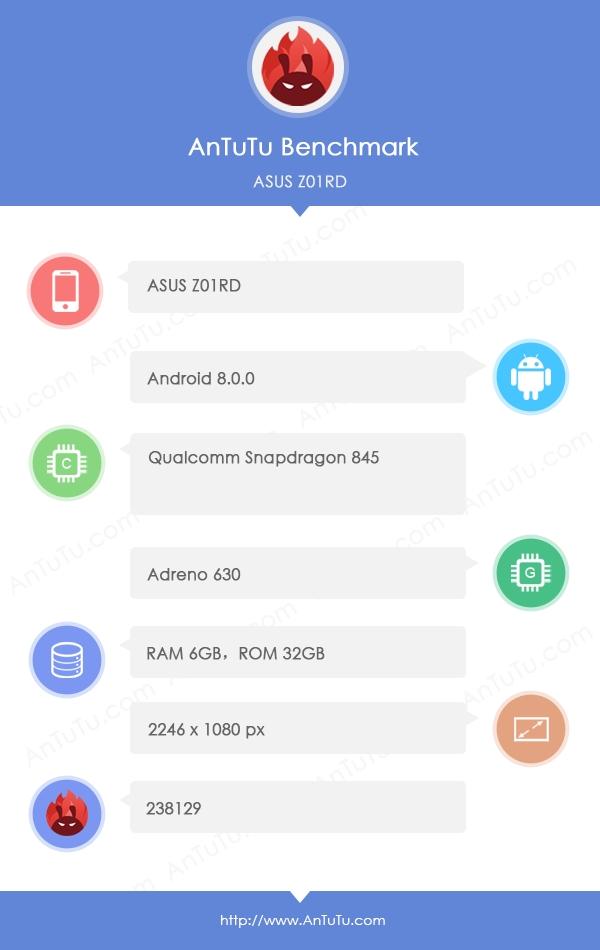 华硕ZenFone 5旗舰新机曝光:骁龙845+6G内存
