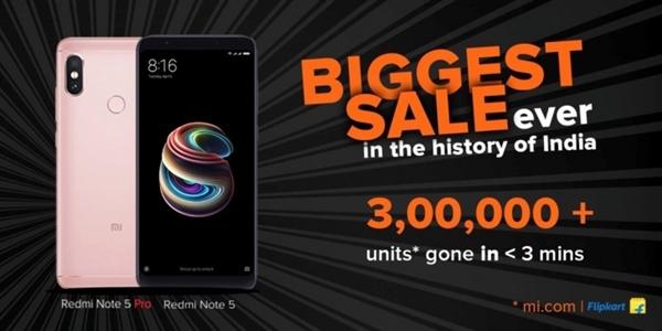 骁龙636全球首发!红米Note 5 Pro 10秒售罄:6G内存