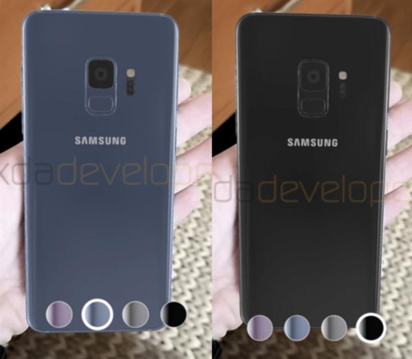 在扫瞄特定QR条码后,可模拟一部Galaxy S9主机出现在手上