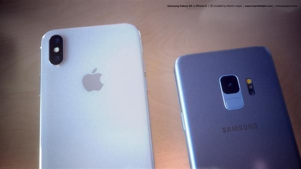 全面屏旗舰你选谁?三星S9同框对比iPhone X