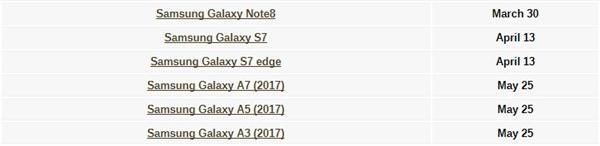 三星公布安卓8.0推送时间:Note8本月推送