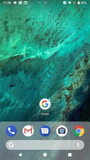 安卓9.0的桌面启动器改变微乎其微