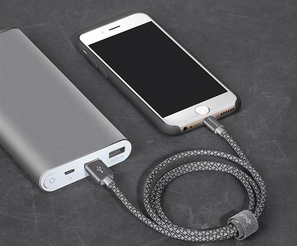 49元!硕米科技发布1米长苹果数据线:凯夫拉编织