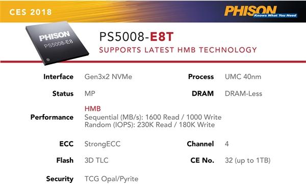 群联E8T主控的HMB黑科技 何以会成为SSD缓存的克星?