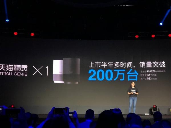 中国最牛AI音箱!天猫精灵X1销量突破200万台