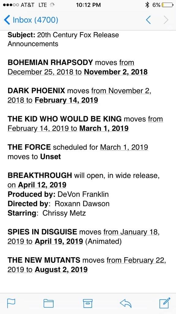 继续等:《X战警》两部新作都延期至明年上映
