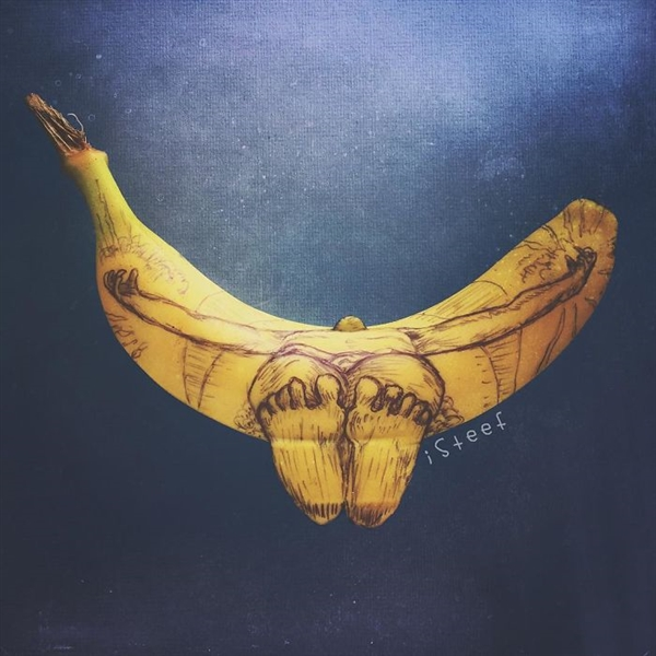 香蕉秒变艺术品 原来它才是最好的画布