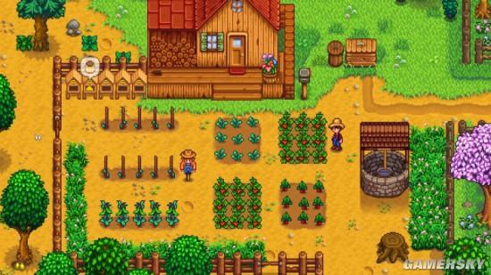 美国农民开拖拉机太无聊 边种地边玩《星露谷物语》