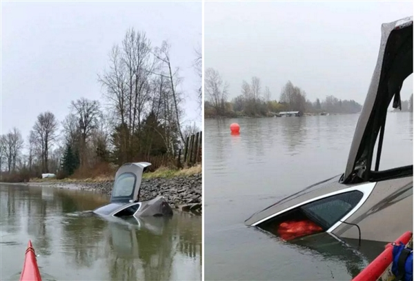 河中发现失窃特斯拉:车内异物哭笑不得