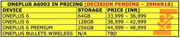 一加6印度售价曝光:骁龙845/8G/256G高达4700元
