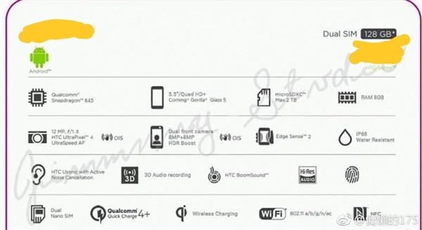 配置没短板!HTC新旗舰U12完全曝光:不是刘海屏