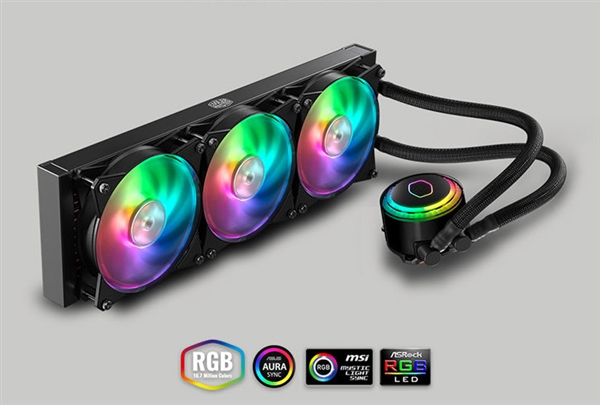 1099元!酷冷至尊冰神G360 RGB水冷散热器发布:可自定义灯效