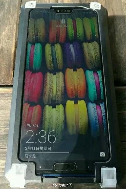 荣耀10真机谍照曝光:也是刘海屏+隐藏指纹识别!