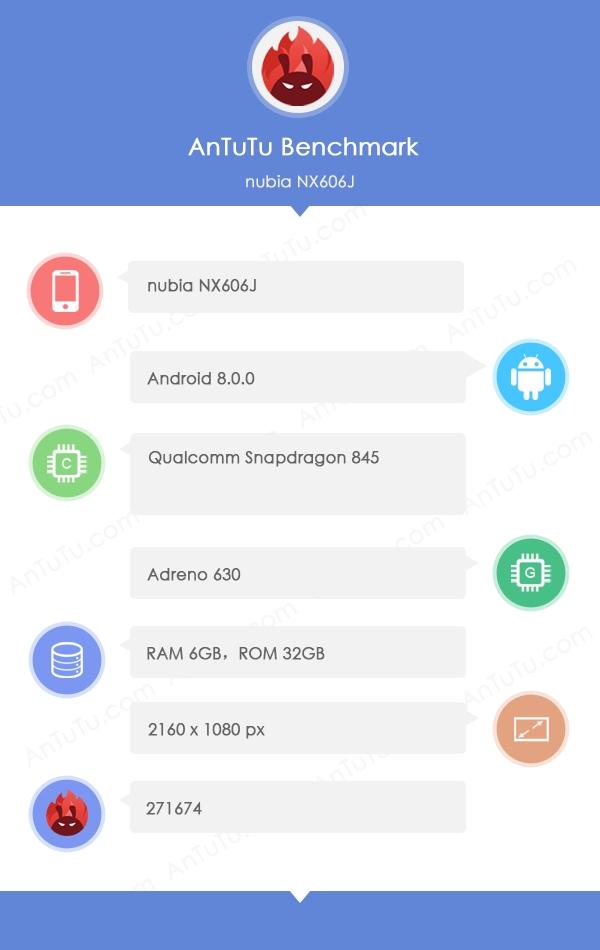 努比亚Z18证件照现身:骁龙845+8G内存