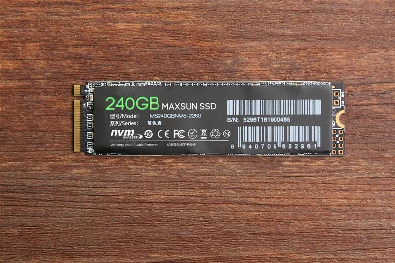 459元!铭�u复仇者NM5 240GB评测:低价不低质的NVMe SSD