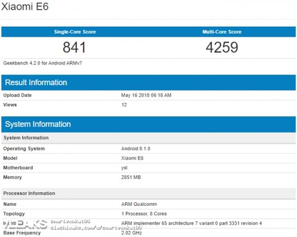 小米又一款新机曝光:3G内存+骁龙625