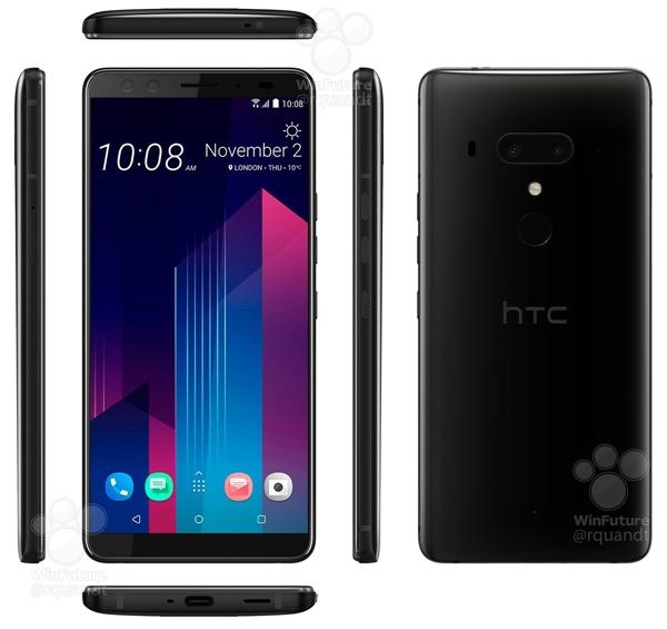 无刘海好评!HTC U12+官方渲染图/规格表大曝光:下周发