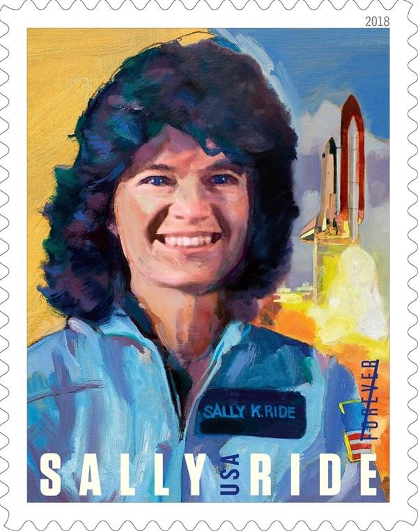 美国邮政局发行邮票纪念美国首位女性航天员Sally Ride