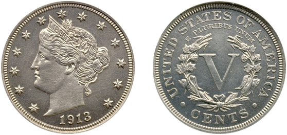 1913年美国自由女神头像镍币价值3209万元