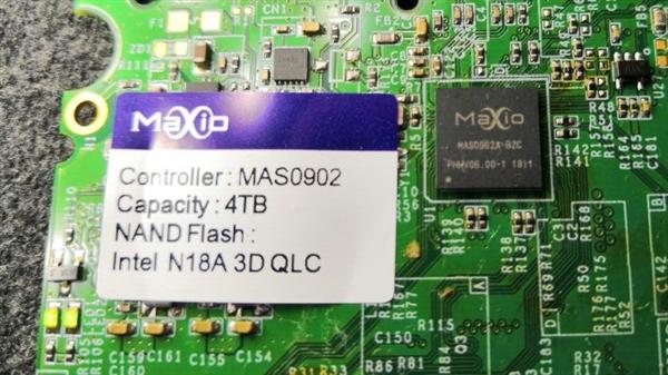 联芸展示4TB SSD样品:国产14mn主控、Intel QLC闪存