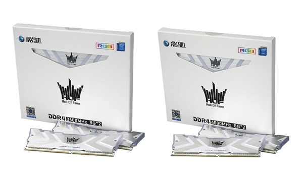 纯白信仰!影驰HOF II DDR4内存发布:液氮超频5.3GHz
