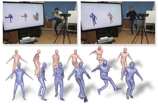 科学家研制实时追踪人体形状系统:更像是X射线透视器