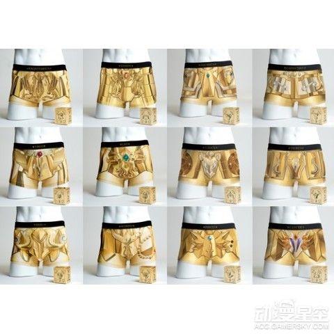 《圣斗士星矢》黄金圣衣版内裤发售 穿上就是地上最强
