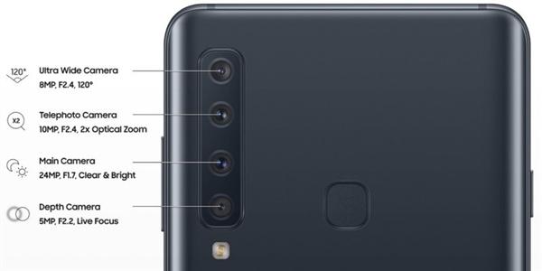 全球首款后置四摄!三星Galaxy A9s来了:渐变配色/内置Bixby