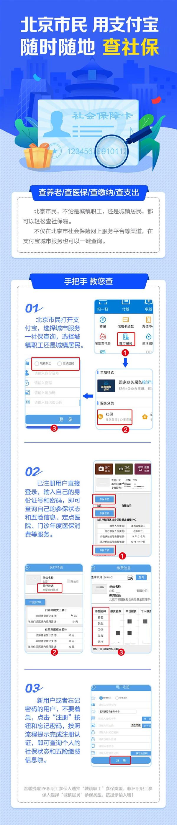 支付宝:今起北京市民可一键查询社保信息