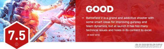 IGN公布《战地5》总体评测 获得评分7.5分