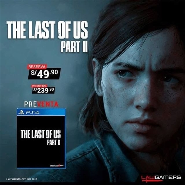 《The last of us Part 2》發售日期曝光:2019年10月份