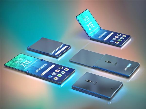 中兴翻盖折叠屏手机专利曝光:颜值更上一层楼