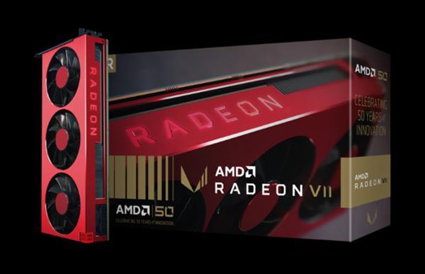 AMD庆祝成立50周年 纪念版CPU及红色Radeon VII显卡齐开售
