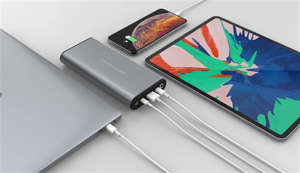 首款100W輸入輸出USB-C移動電源開賣:27000mAh