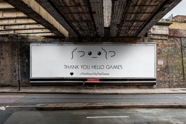 粪作反袭收获佳话 《无人深空》粉丝多筹广告牌感谢做事室