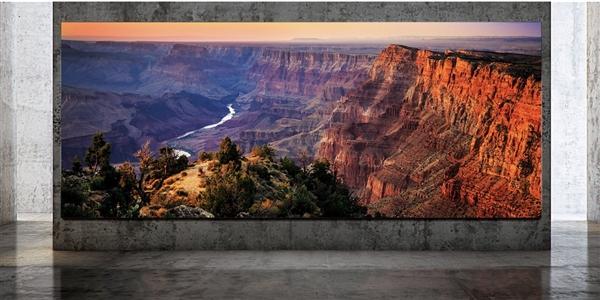 三星新电视亮相:292英寸、8K分辨率、2000尼特