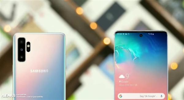 三星Galaxy Note 10搭载新型打孔屏:内建7nm Eyxnos 9825处理器