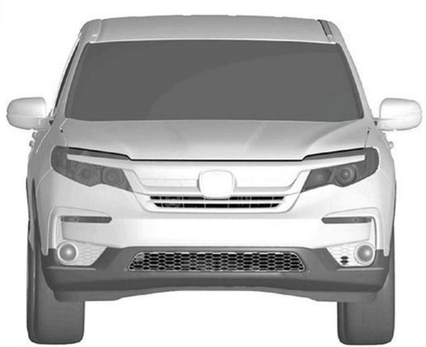 定位7座SUV 本田Pilot国内专利图曝光:对。标汉兰达
