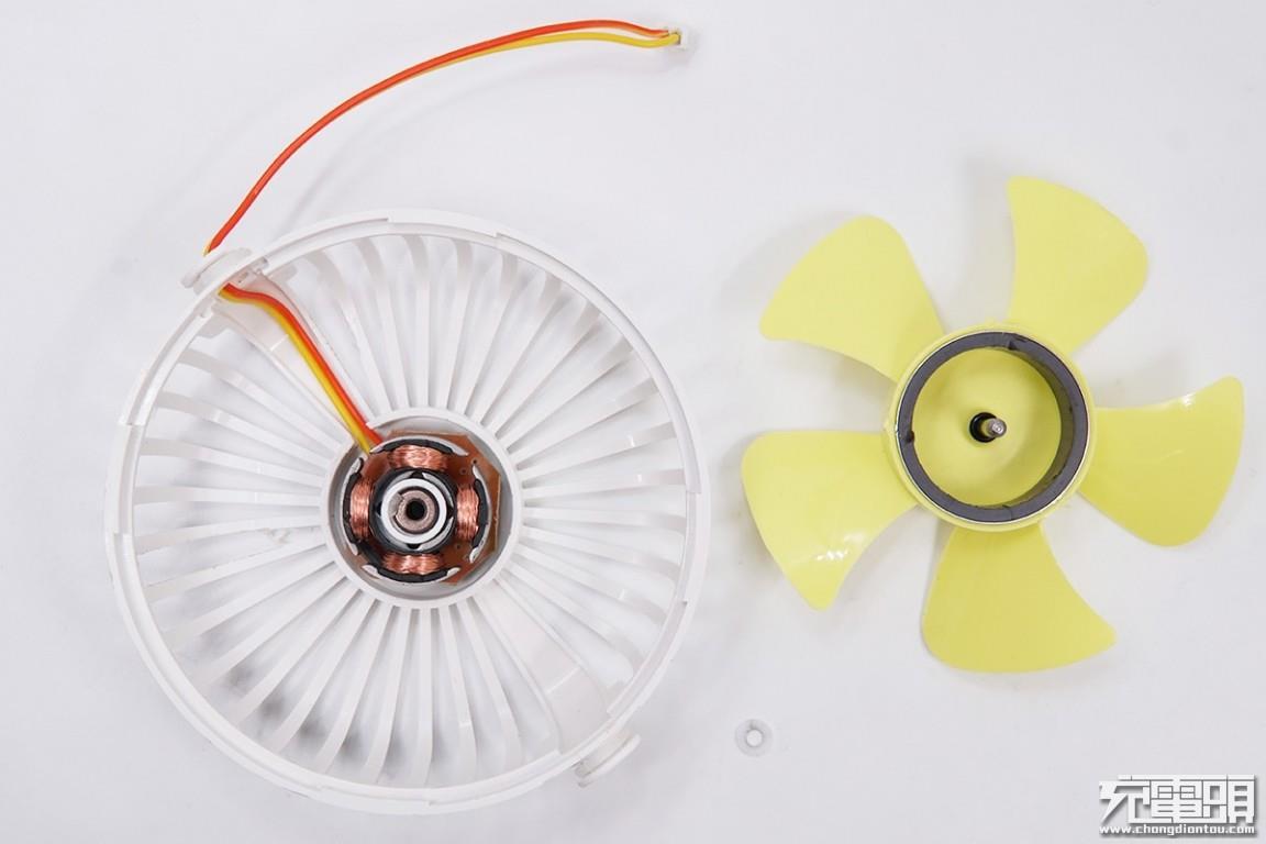 使用无刷电机,风扇扇叶为5片.图片