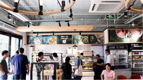 全国首家苏宁小店3.0开业:吃饭买菜还能修家电