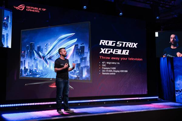 华硕ROG三款电竞显示器亮相2019科隆游戏展打造游戏盛宴