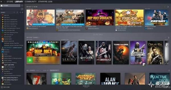 Steam游玩库页面终于改版:望图语言