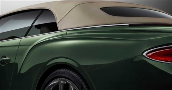 粗花呢车顶史上稀奇!新欧陆GT敞篷版官图公布:无与伦比的时兴