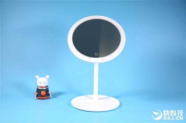米家LED化妆镜图赏:6.5寸高清镜面 显色指数Ra92