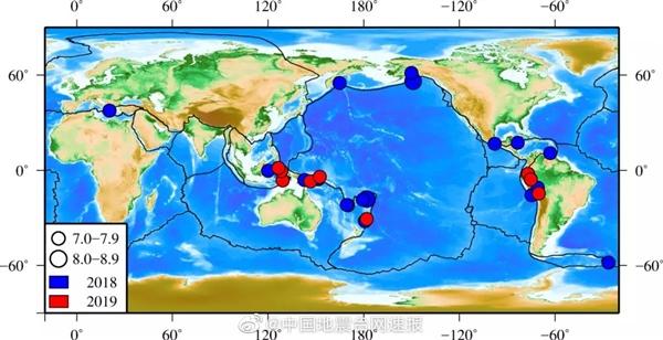 2019年全球地震活行较弱 6年来始次未超8.0级